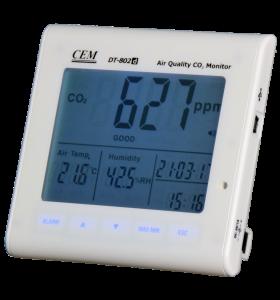 CO2 meter met luchtvochtigheid en temperatuur en data monitoring