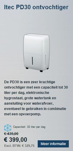 30 liter ontvochtiger Itec PD30