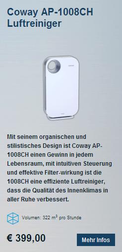 Coway AP-1008CH HEPA Luftreiniger