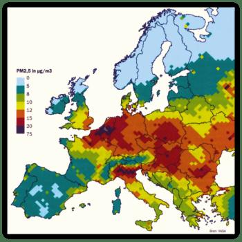 fijnstofniveau Europa