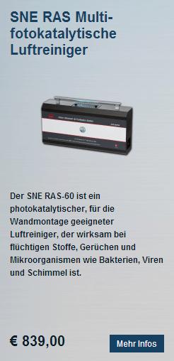 Fotokatalytische Luftreiniger SNE RAS