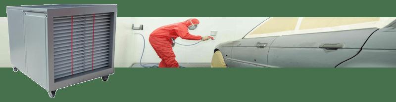 Luchtzuivering verfnevel