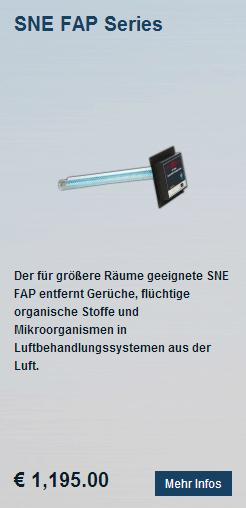Luftaufbereitungssystem Luftreiniger SNE CAP