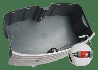 Luftbefeuchter mit direktem Wasseranschluss.