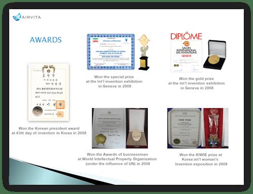 Airvita Awards en onderscheidingen