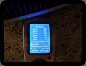 Fijnstofmeting luchtreiniger