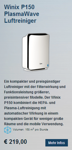 HEPA Luftreiniger Winix P150