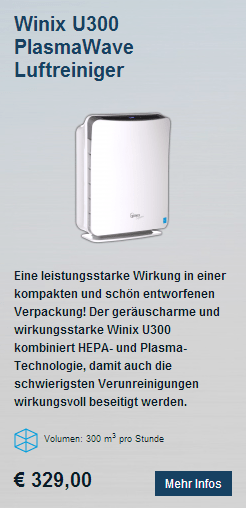 HEPA Luftreiniger Winix U300