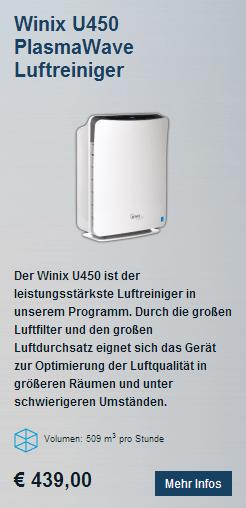 HEPA Luftreiniger Winix U450