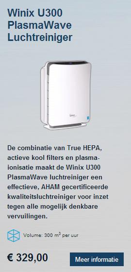 Winix U300 HEPA luchtreiniger