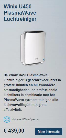 Winix U450 HEPA luchtreiniger